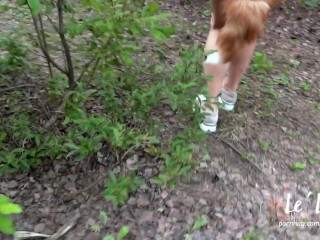 FUCK A RED FOX IN THE FOREST. PUBLICLY SUCKS DICK & GETS FUCKED BY THE LAKE