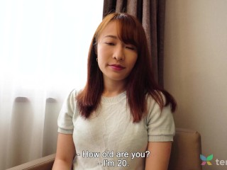 Japanese girl with big tits Chikako Sakuri comes to hotel in Tokyo for sex