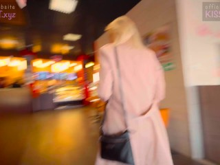 Public Agent - 18 Babe Suck Dick in Toilet Wendis & Drink Coffe with Cum / Kiss Cat