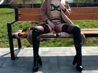 Alice public nudity compilation in the street and in public places